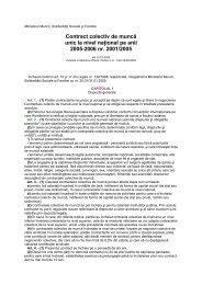 Contractul Colectiv de Munca la nivel National - CSN Meridian