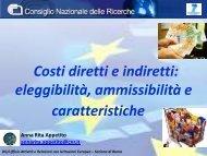 """COSTI """"indiretti"""" - CNR - Ufficio Attivita e Relazioni con Istituzioni ..."""