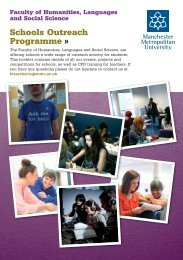 Schools Outreach Programme - Humanities, Languages and Social ...
