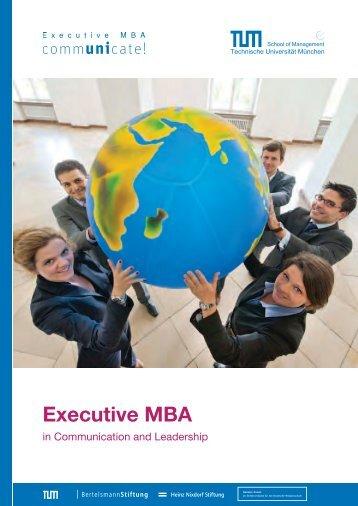 Leadership Module des Executive MBA – Überblick - communicate!
