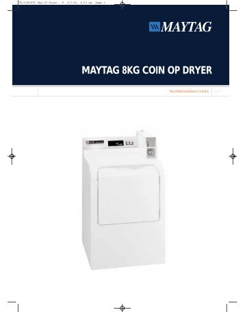 maytag coin operated washer manual