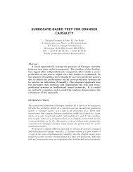 SURROGATE-BASED TEST FOR GRANGER CAUSALITY - CiteSeerX
