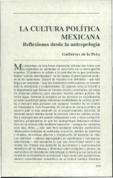 LA CULTURA POLITICA MEXICANA - Estudios sobre las Culturas ...