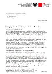 Managergehälter – Verabschiedung des VorstAG im ... - Joachim Poß