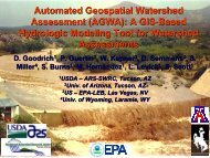 Automated Geospatial Watershed Assessment (AGWA): A GIS ...