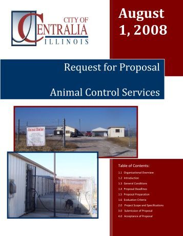 Request for Proposal: Cell Phone Service - City of Centralia, Illinois