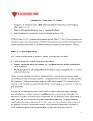 2013 Q1 Earnings Release - Canadian Tire Corporation