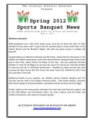 Spring 2012 Sports Banquet News - Thomas Jefferson High School ...