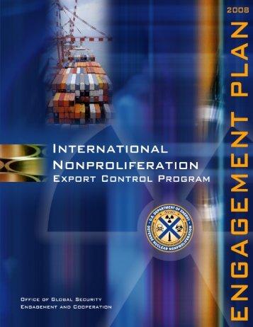 International Nonproliferation Export Control Program Engagement ...