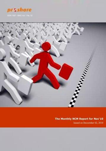 Monthly NCM Report for Nov 2010 - Proshare