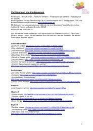"""""""Kinderverse in 12 Sprachen"""", Elternbildung CH (pdf) - Buchstart"""