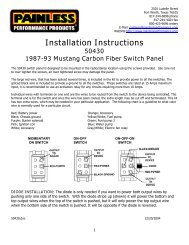 Installation Instructions - Painless Wiring