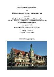 Preliminary program - Leibniz-Institut für Länderkunde