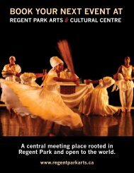book your next event at regent park arts - Artscape