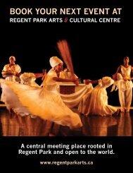 book your next event at regent park arts - Artscape