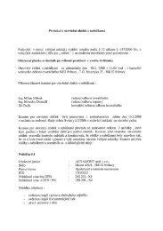 Protokol o otevírání obálek s nabídkami - Svitavy