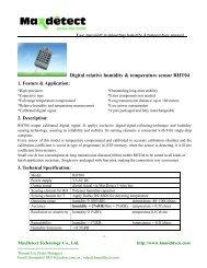 Digital humidity and temperature sensor RHT04