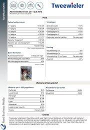 Tariefkaart Tweewieler - Adverteren bij Reed Business.nl