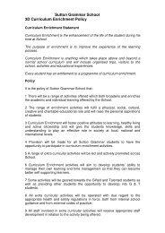 Sutton Grammar School 3D Curriculum Enrichment Policy