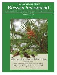 January 23, 2011 - The Catholic Community of the Blessed Sacrament