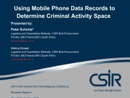 Using Mobile Phone Data Records to Determine Criminal Activity ...