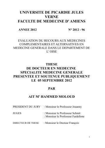 these de medecine generale evaluation des mca par - Thèse IMG