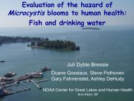 Evaluation of the hazard of Microcystis blooms to human health: Fish ...