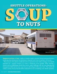 Shuttle Operations: Soup to Nuts - International Parking Institute