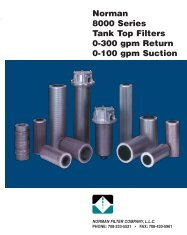view 8000 Series - Norman Filter Company