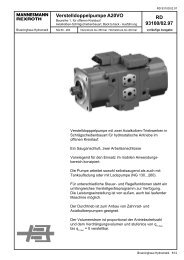 RD 93100/02.97 Verstelldoppelpumpe A20VO - Group VH A/S