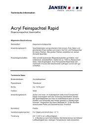 Acryl Feinspachtel Rapid - Colourandclean.de