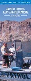 AZ Boating Brochure - Arizona Game and Fish Department