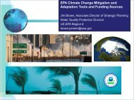 EPA Climate Change Mitigation and Adaptation Tools and Funding ...
