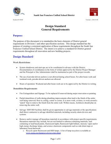 Design Standard General Requirements   Measure J Bond