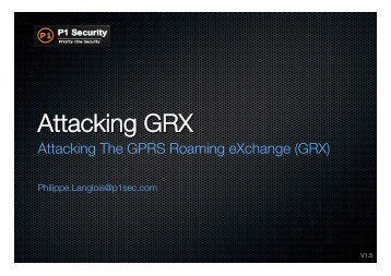P1security-Attacking GRX v2x