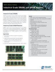 Industrial Grade DRAM Modules - Smart Modular Technologies, Inc.