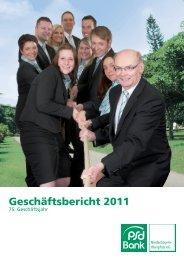 Geschäftsbericht 2011 V10 - PSD Bank Niederbayern-Oberpfalz eG