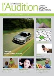 Sécurité routière et surdité - Collège National d'Audioprothèse
