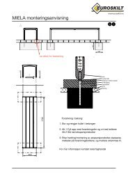 MIELA monteringsanvisning - Euroskilt AS