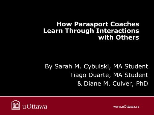 How Parasport Coaches Learn Through Interactions with Others