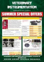 SUMMER SPECIAL OFFERS - Veterinary Instrumentation
