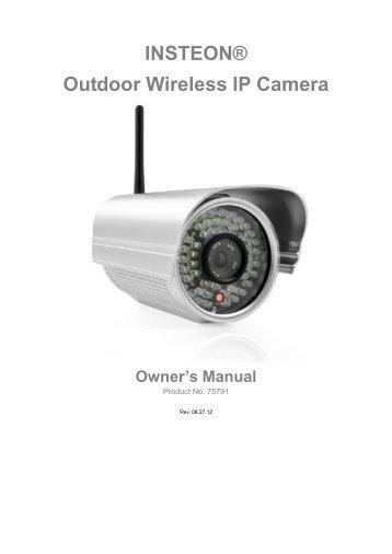 Smarthome® Outdoor Wireless IP Camera User Manual