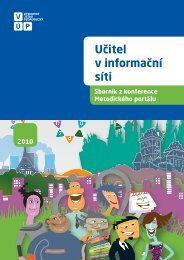 Sborník ke konferenci Učitel v informační síti - Metodický portál RVP