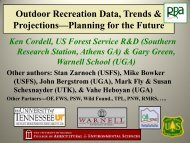 Outdoor Recreation Data, Trends & Projections—Planning for the ...