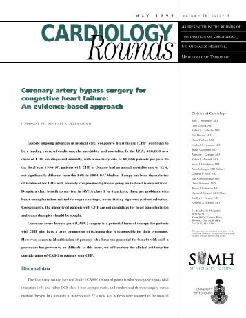 Coronary artery bypass surgery for congestive heart failure