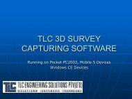 TLC 3D SURVEY CAPTURING SOFTWARE - TLC Engineering ...
