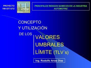 VALORES UMBRALES LÍMITE (TLV´s)
