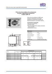 Filtro de red monofásico (2 conductores) con gran capacidad de ...