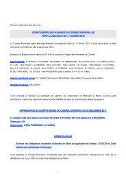 Compte rendu du 1er fevrier 2012 - Port la Nouvelle