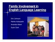 Family Involvement in y English Language Learning